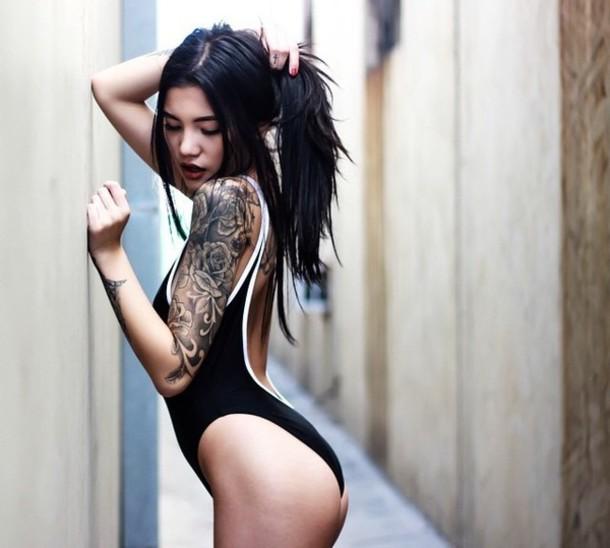 swimwear swimwear black bikini white swimwear