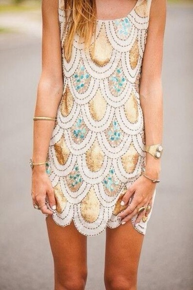 dress teal dress teal short dress hold gold sequins gold dress straps white