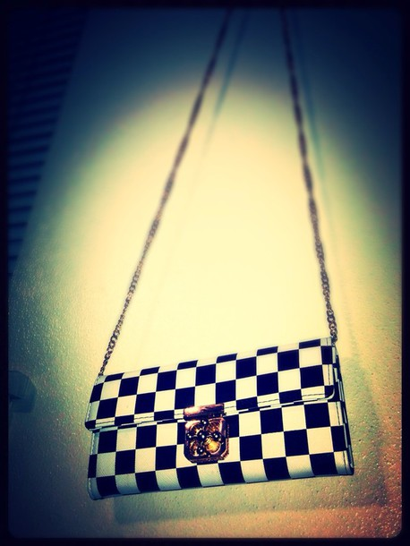 bag checkered wallet purse