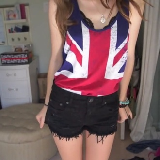 british union jack tank top top