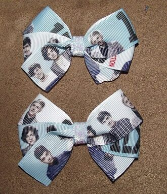 jewels bows one direction liam niall harry zayn malik louis blue black 1d