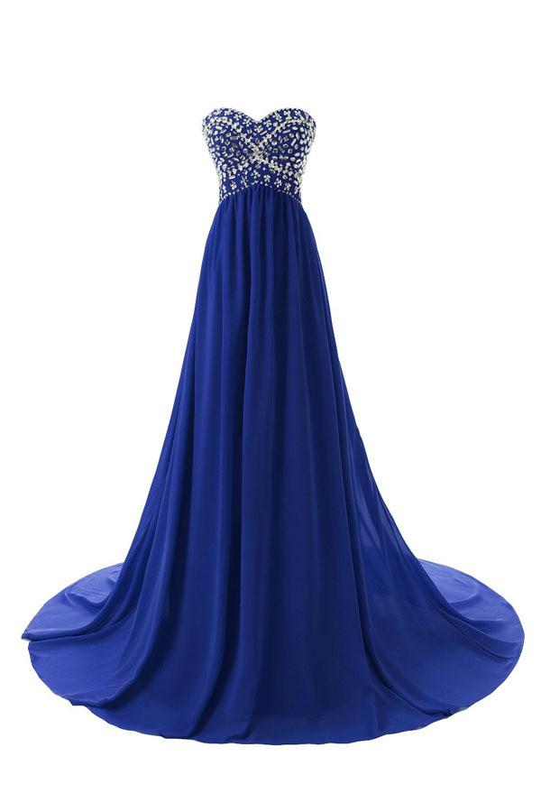dress sweep train homecoming dress bridesmaid drtess party dress prom dress blue prom dress
