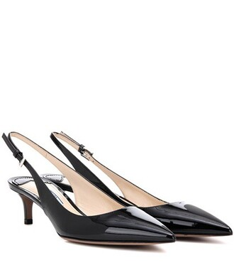 pumps leather black shoes