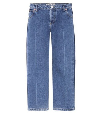 jeans cropped jeans cropped rockabilly blue