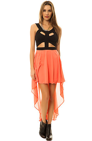 Reverse Dress Bandage in Black and Pink -  Karmaloop.com