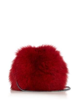 fur fox love bag red