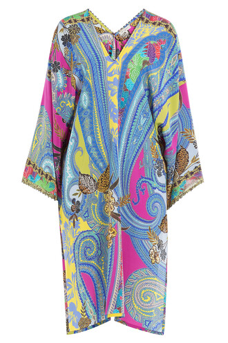 tunic silk multicolor top