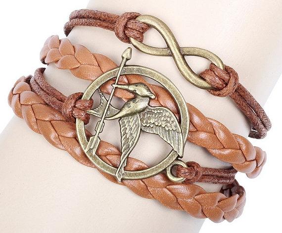 Game bird icon woven bracelet bracelet leather by kingdomofshang