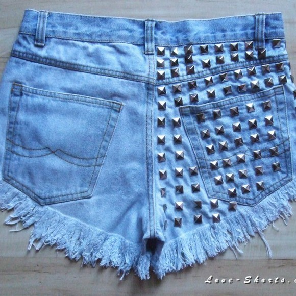 shorts acid wash denim high waisted shorts jeans studded shotrs levi's studded shorts levi