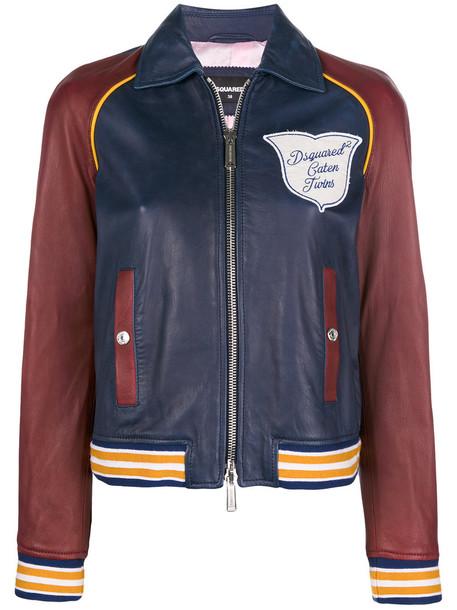 Dsquared2 jacket bomber jacket women cotton blue