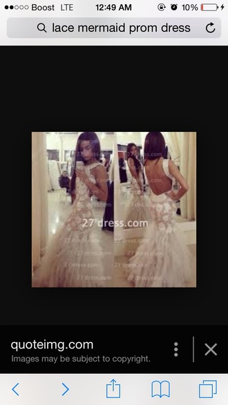 dress lace mermaid prom dress ruffles backless prom dress