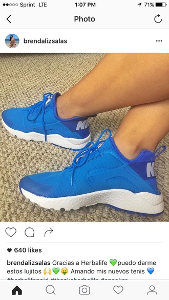 shoes blue sneakers low top sneakers nike
