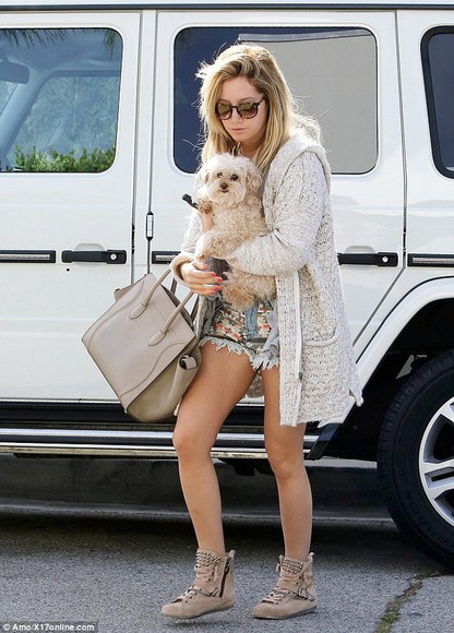 ashley tisdale cardigan beige cardigan