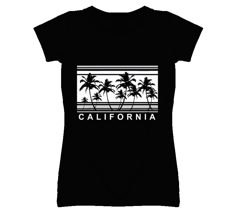 California Palm Trees Popular Graphic T Shirt
