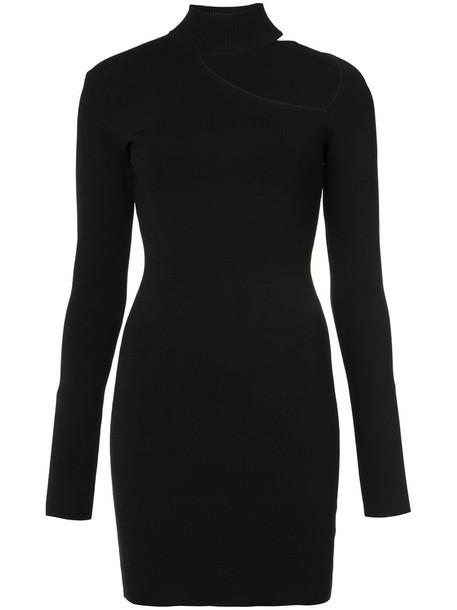 Dion Lee dress sweater dress women spandex cut out shoulder black