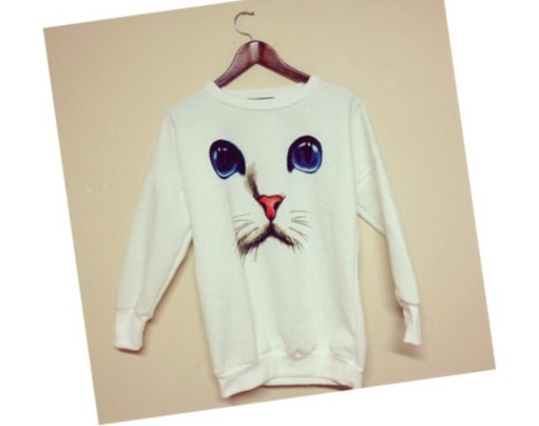 sweater cats blue eyes sweater
