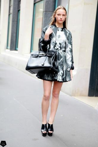 coordinate print dress dress jacket