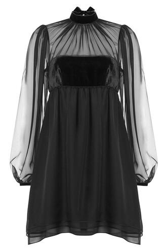 dress chiffon dress chiffon silk velvet black