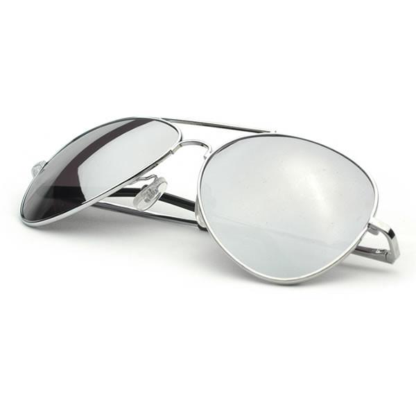 e851875fcb9 Premium Military Mirrored Lens Metal Aviator Sunglasses 1375 58mm
