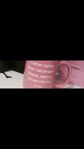 home accessory,pink,coffee,mug,coffeee mug,quote on it mug