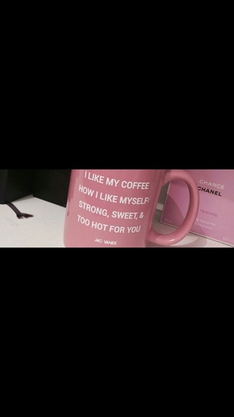home accessory pink coffee mug coffeee mug quote on it mug