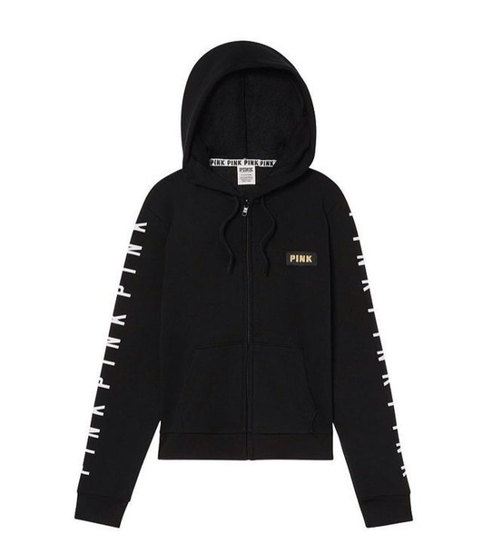 shirt victoria's secret black hoodie