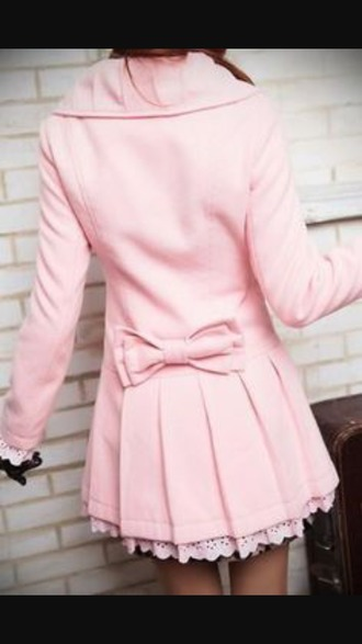 coat light pink wool coat