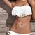 Sexy Tassel Low Waisted Strapless Bandeau Bikinis : KissChic.com