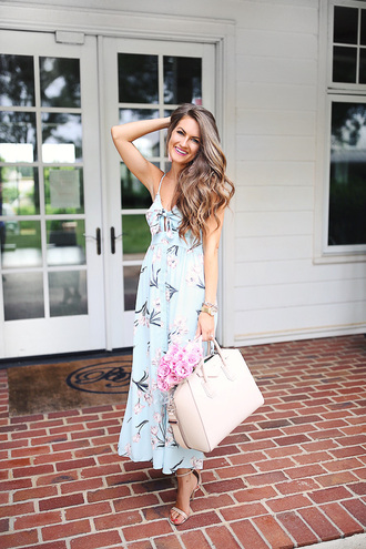 southern curls and pearls blogger dress jewels bag shoes make-up