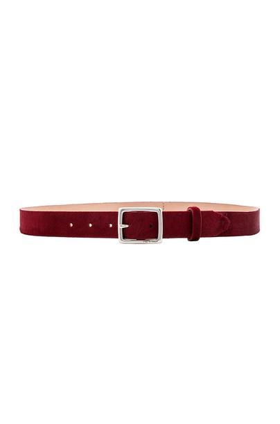 Rag & Bone Boyfriend Belt in burgundy