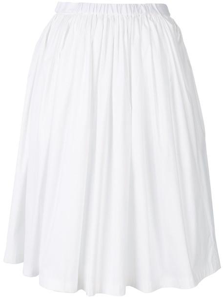 Prada skirt pleated skirt pleated women spandex white cotton