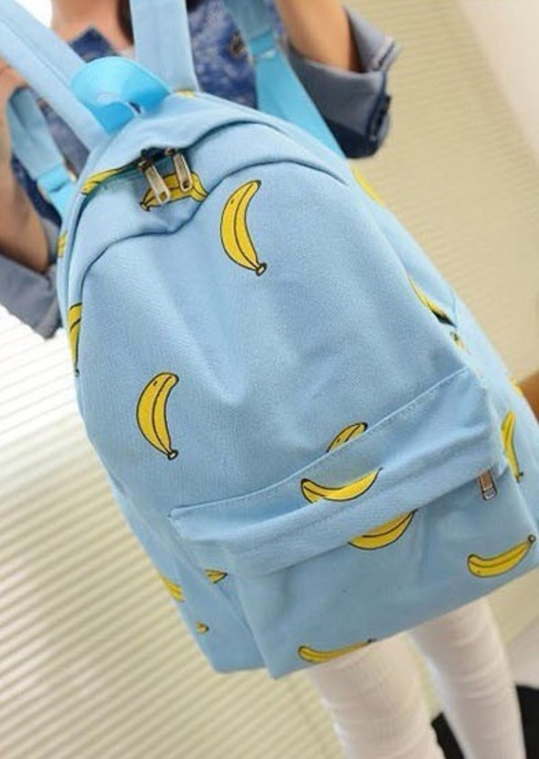 bag banana print bookbag