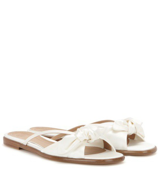 The Row April Satin Sandals in white