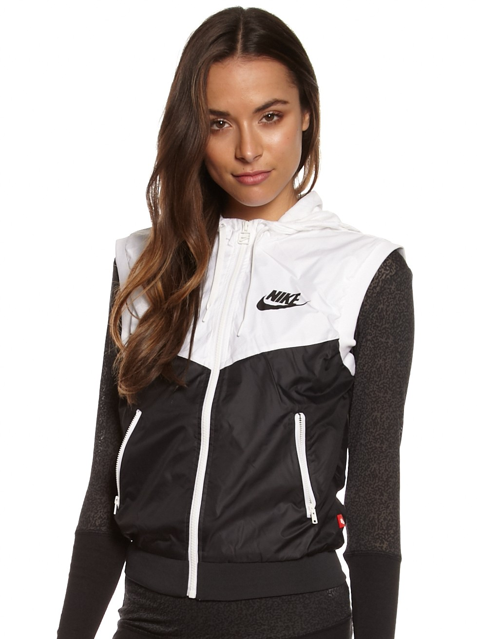 hot-selling newest info for top quality Nike Windrunner Vest in Black & White - Glue Store