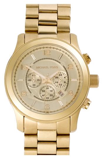michael kors large runway gold bracelet 46mm