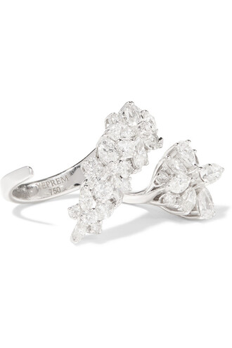 diamond ring ring gold white jewels