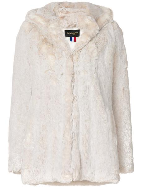La Seine & Moi jacket fur jacket fur women nude satin
