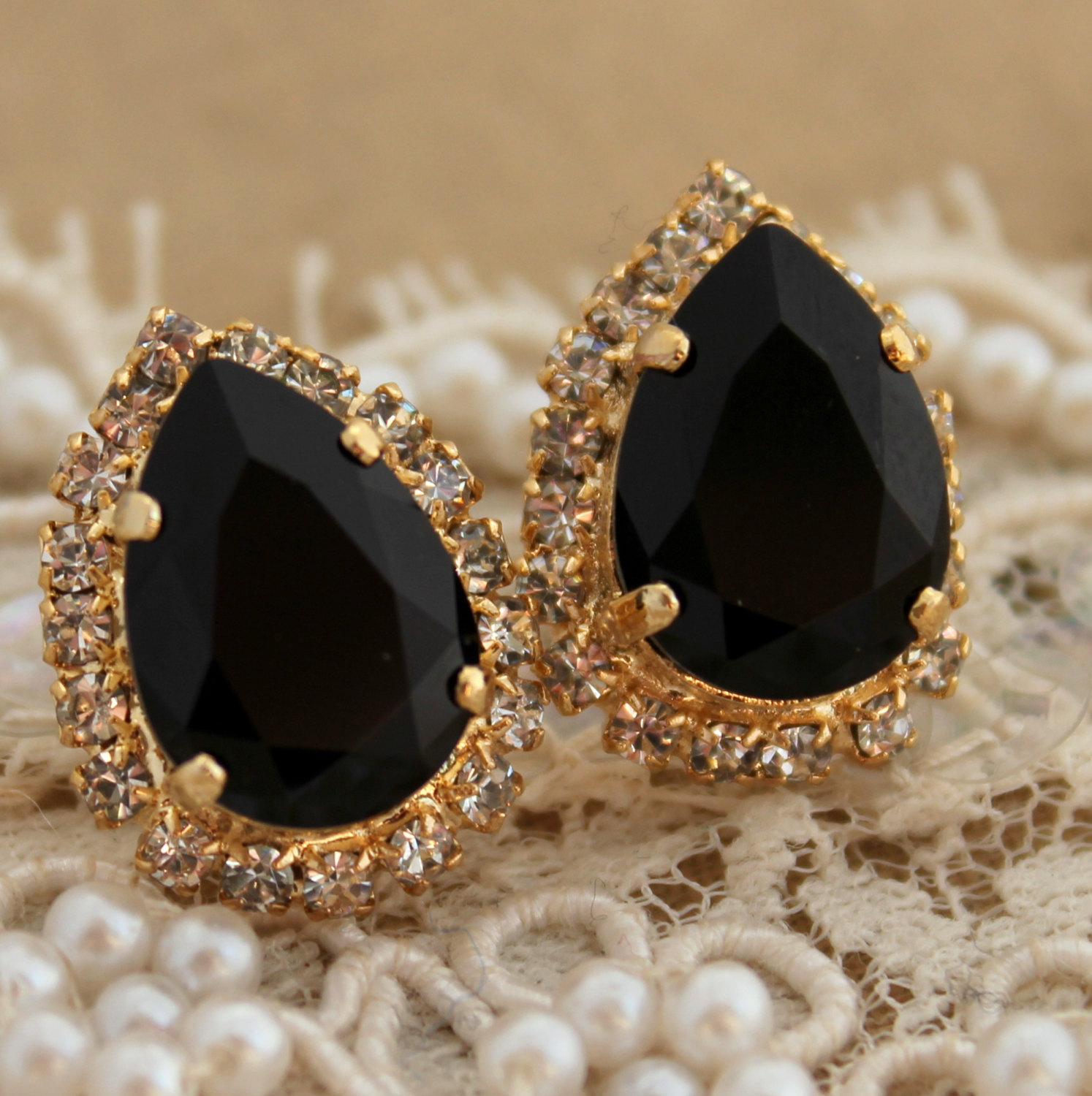 earrings black andaaz gold with meena products jewelers