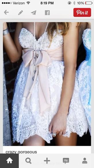 pink dress beaded homecoming dress