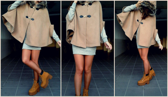 winter outfits boots coat winter/autumn nirvana boots cape poncho nirvana winter jacket jacket autumn boots