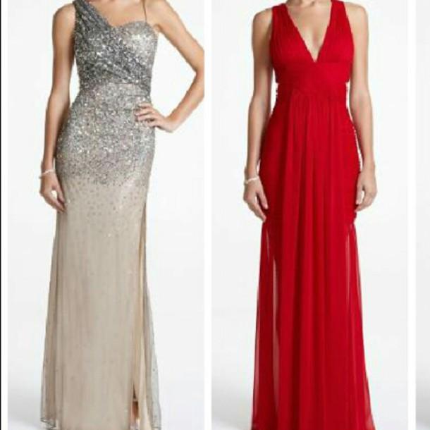 dress prom dress red dress glitter dress long prom dress