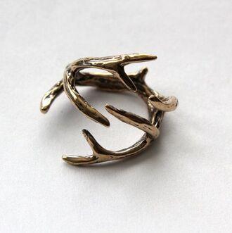 ring deer bronze hipster wishlist minimalist jewelry