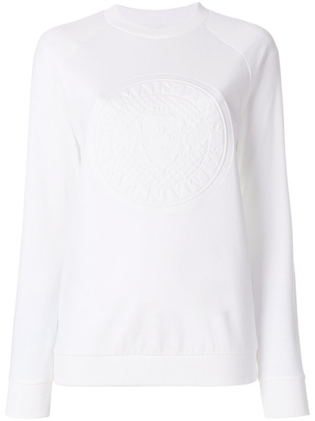 Balmain jumper women white cotton sweater