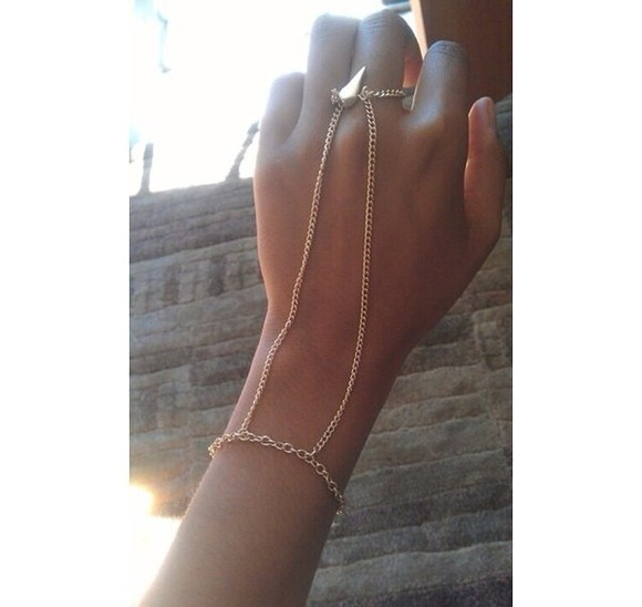 jewels chain ring wrist silver