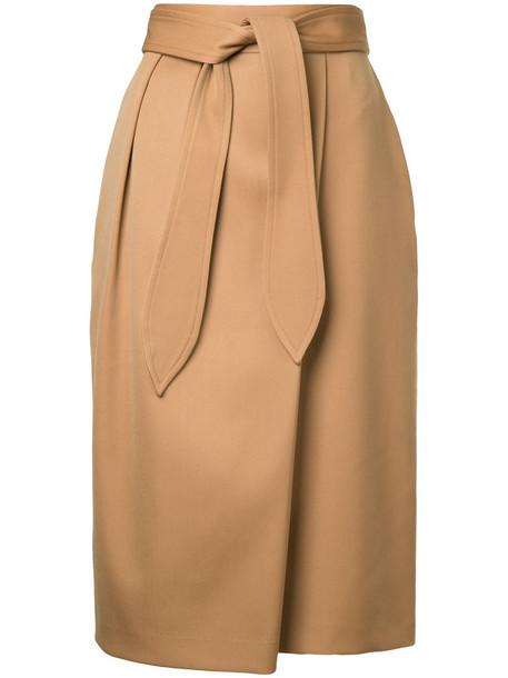 Estnation skirt midi skirt women midi wool brown