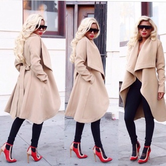 coat trench coat nude coat waterfall coat