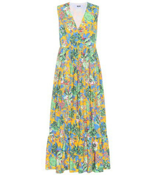 MSGM dress floral cotton