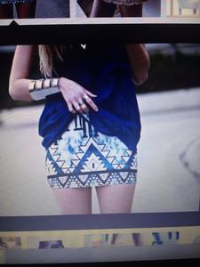 aztec print short