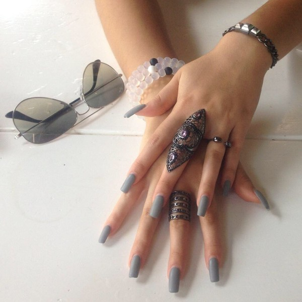 jewels ring ring grunge bohemian nails jewelry nail polish