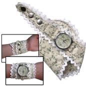 jewels,watch,romantic watch,beautiful watch,floral watch,designer watch,cotton strap,unusual watch,unique watch,ziziztime,ziz watch,floral